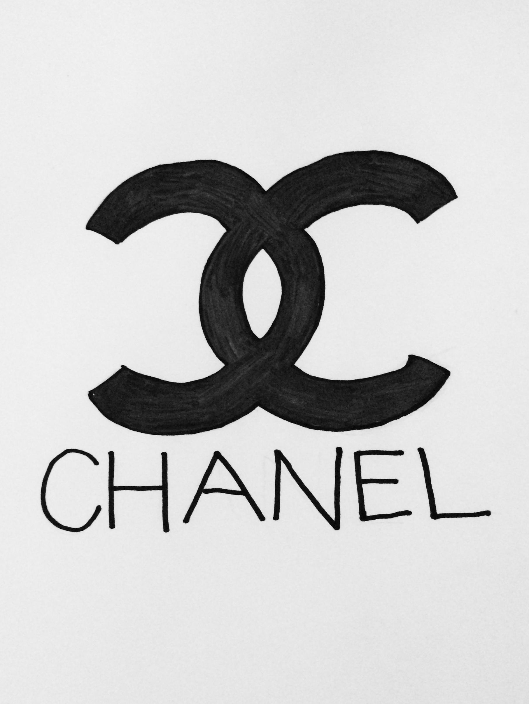 my attempt at the chanel logo drawingsbyjanice